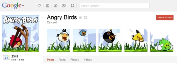 Angry Birds Google Plus Page