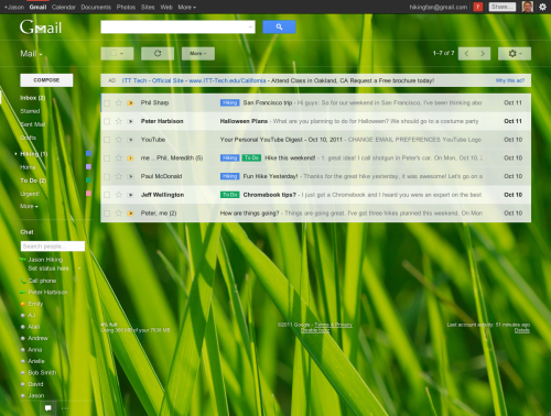 Gmail new look - HD themes