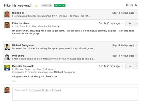 Gmail new look - conversations