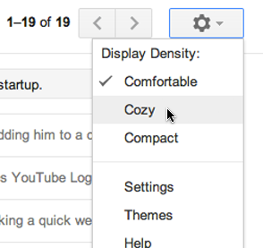 Gmail new look - screen size