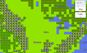 Google Map 8-bit April Fools Prank