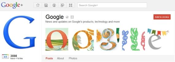 Google's Google Plus Page