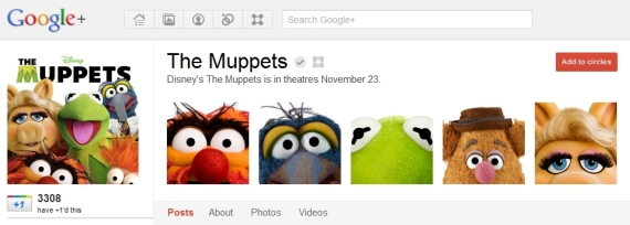 Muppets Google Plus Page