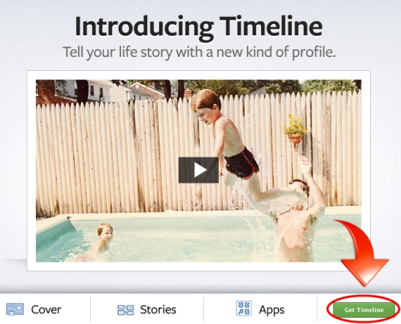 Enable Facebook Timeline - Step 1