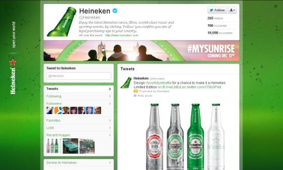 Twitter - Heineken - Vectorash.ro
