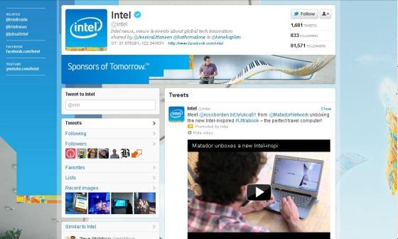 Twitter - Intel