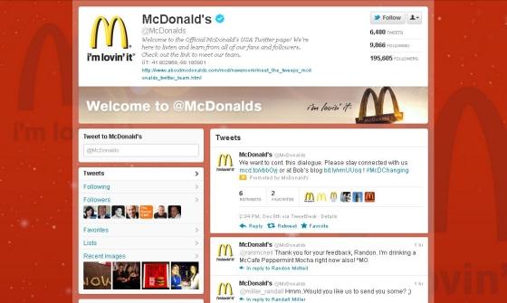 Twitter - McDonalds