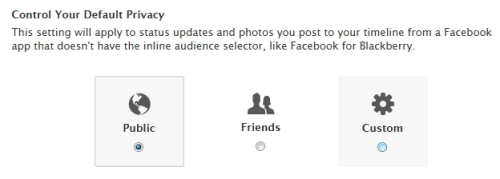 Facebook Timeline - Control Default Privacy