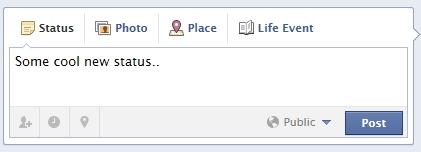 Facebook Timeline - Status Update